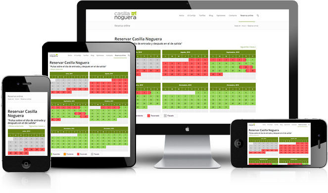 Motor de Reservas online adaptada para todos los dispositivos